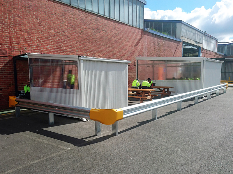 carpark saftey posts and barrier